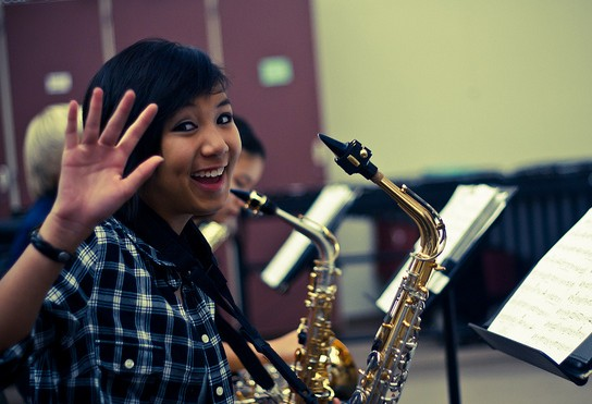 excited to play the saxophone