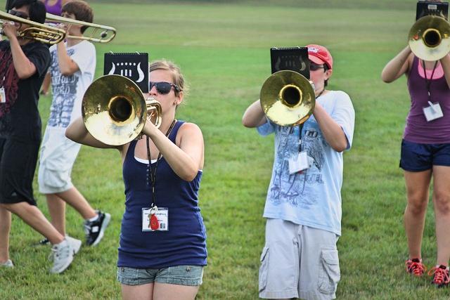 band camp rehearsal