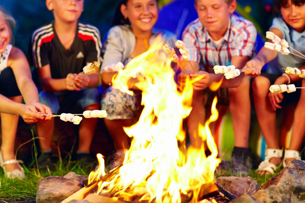 summer music camp bonfire activity