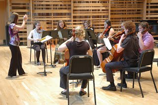 Friends Music Camp string ensemble